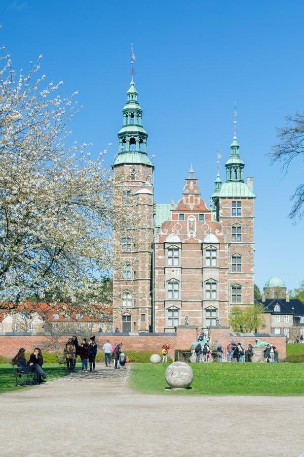 COPENHAGUE, DANEMARK - 30 AVRIL 2017 : Le palais de Rosenborg est rena photographie stock