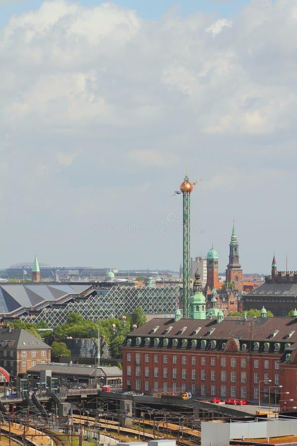 Copenhague, Danemark - 9 juin 2012 : Centre historique culturel de ville photos stock