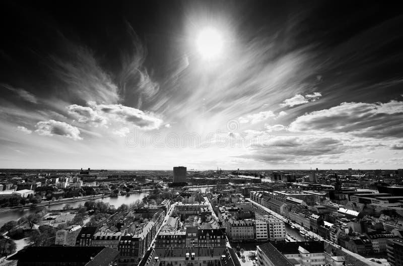 Copenhague de ci-avant photographie stock