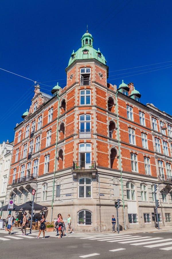 COPENHAGUE, DINAMARCA - 26 DE AGOSTO DE 2016: Construcción preservada pozo viejo en el centro de Copenhague, Denma foto de archivo libre de regalías