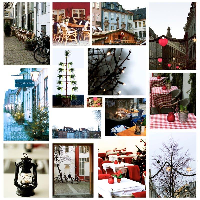 Copenhague en tiempo de la Navidad, Dinamarca imagen de archivo
