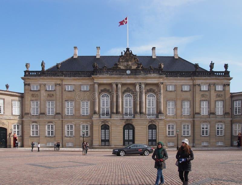 Palais d'Amalienborg à Copenhague images libres de droits