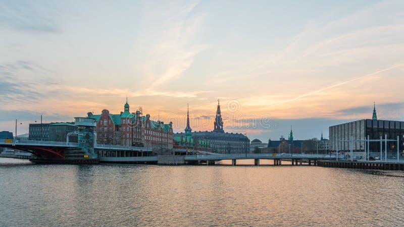 Copenhague que iguala paisaje urbano imagenes de archivo