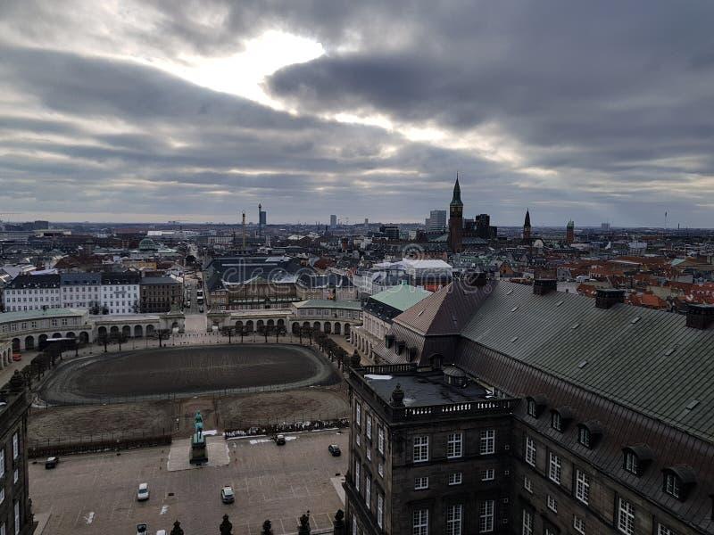 Copenhague uppifrån royaltyfri foto