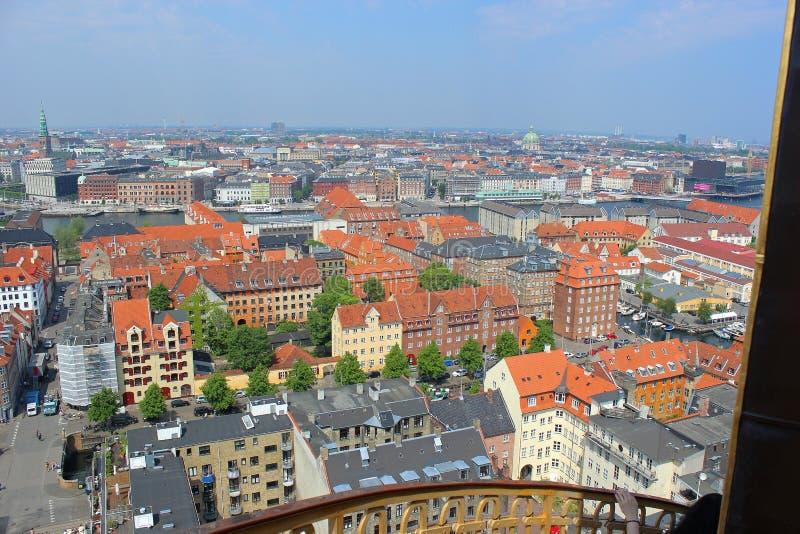 Copenhague - visión aérea foto de archivo
