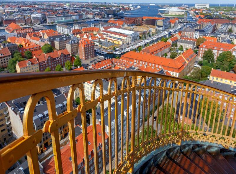 copenhague Vue aérienne de la ville image stock