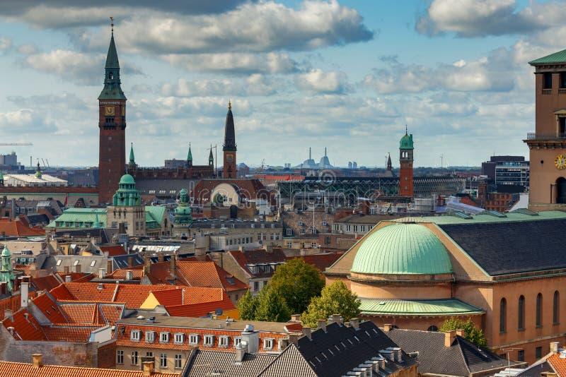 copenhague Vue aérienne de la ville photo libre de droits