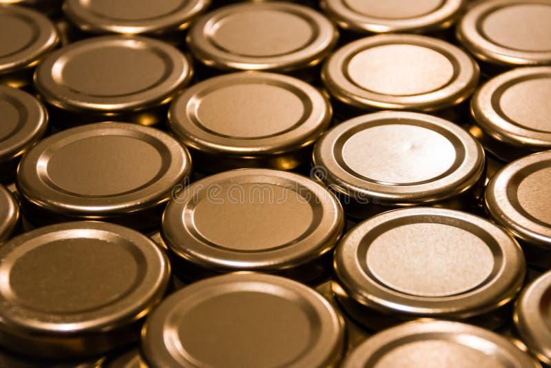 Coperchi per i barattoli fotografia stock libera da diritti