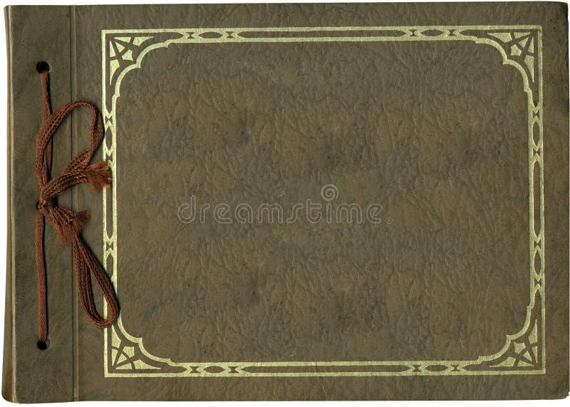 Coperchio antico dell'album fotografia stock