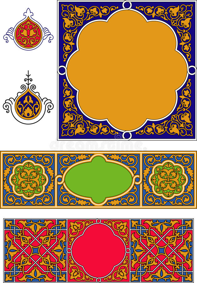 Coperchio arabo illustrazione di stock