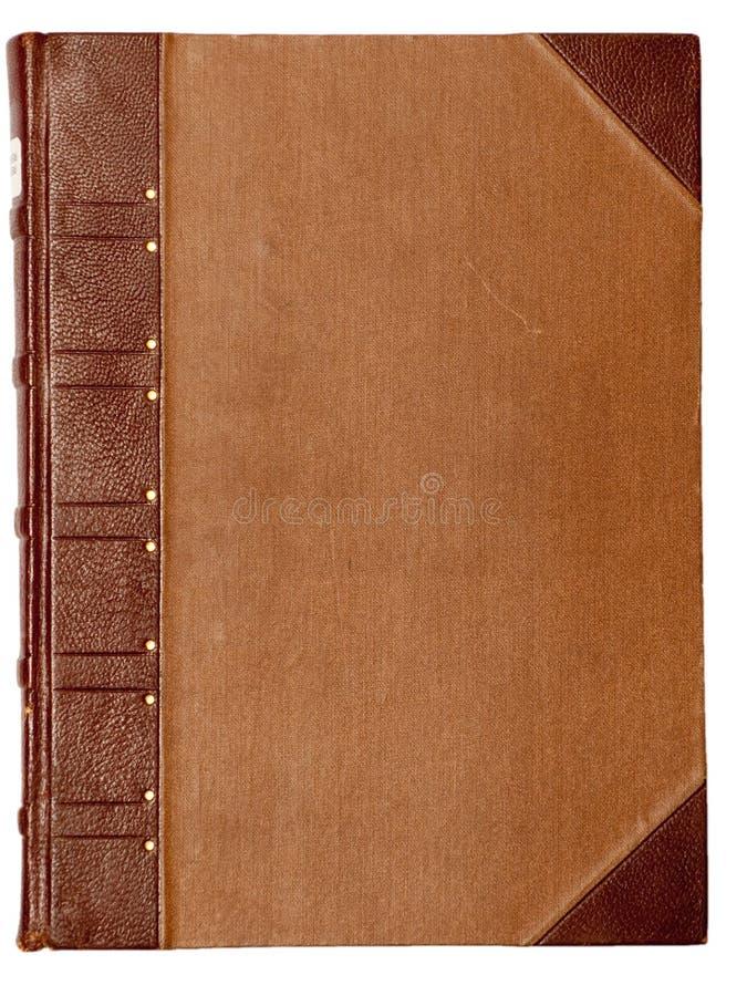 Coperchio in bianco di vecchio libro immagini stock libere da diritti