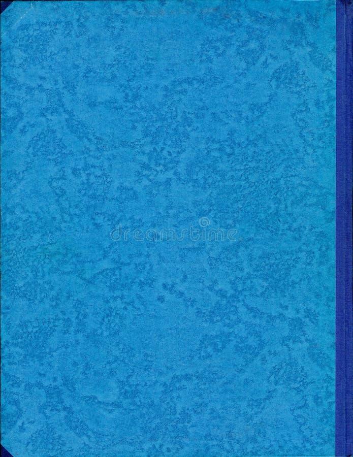 Coperchio blu del vecchio libro fotografie stock