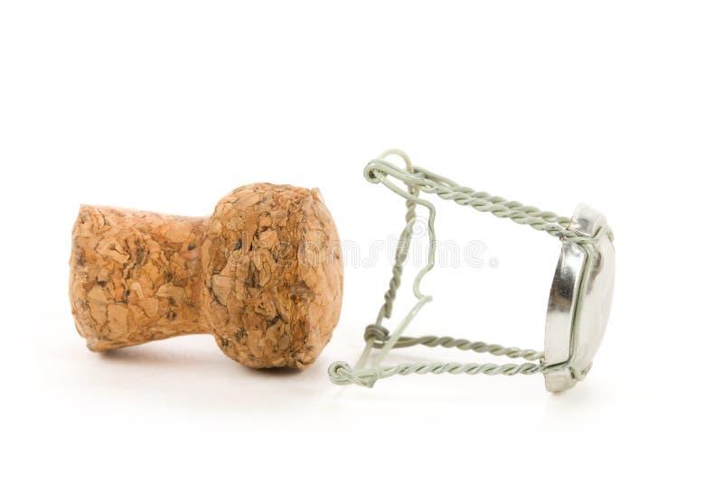 Coperchio del sughero di Champagne immagine stock libera da diritti