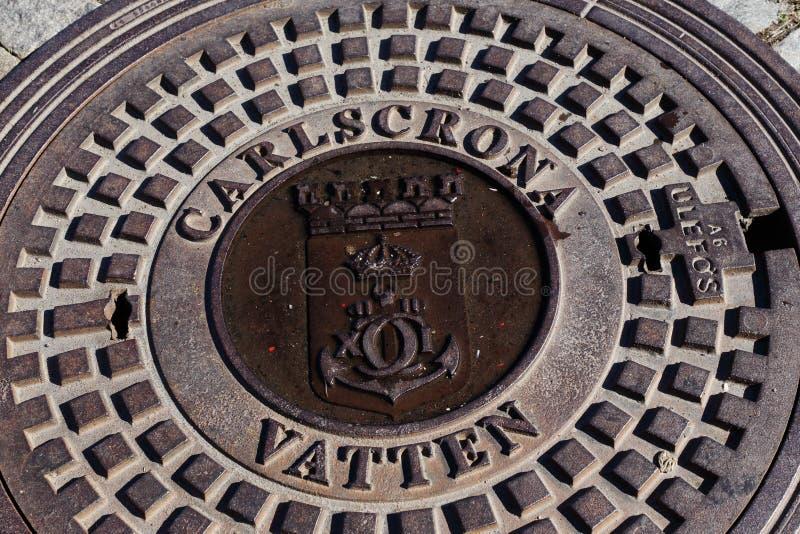 Coperchio della botola di Karlskrona fotografia stock