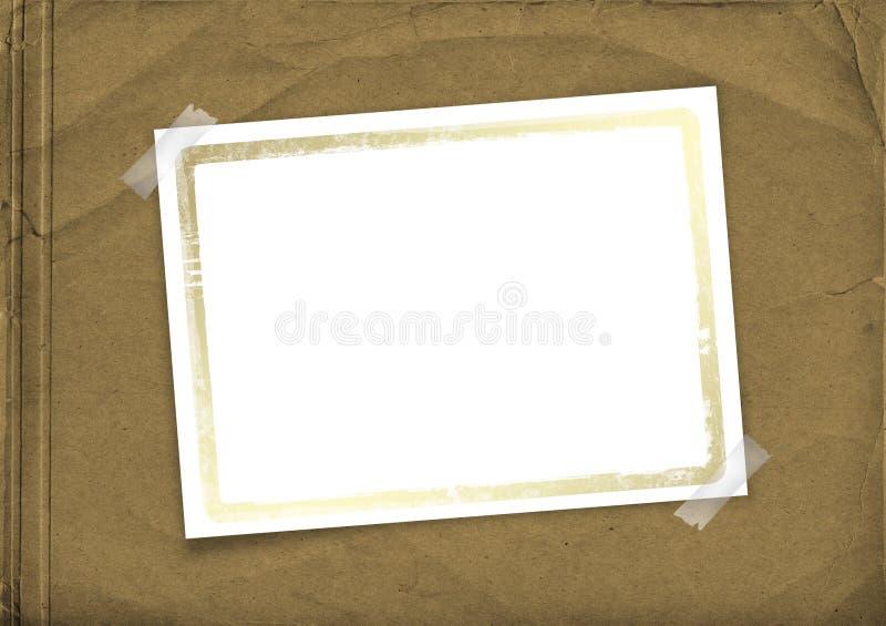 Coperchio di Grunge per l'album con il blocco per grafici e scozzese illustrazione vettoriale