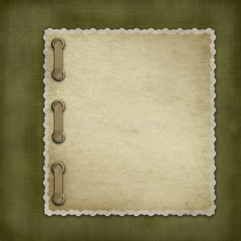 Coperchio di Grunge per un album fotografie stock libere da diritti