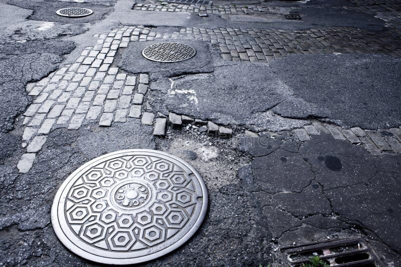 Coperchio NYC del foro dell'uomo fotografia stock libera da diritti