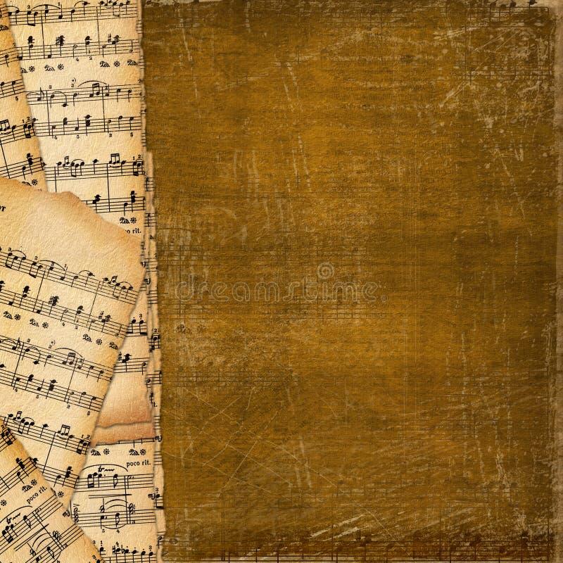 Coperchio per il libro di musica sui precedenti astratti immagine stock