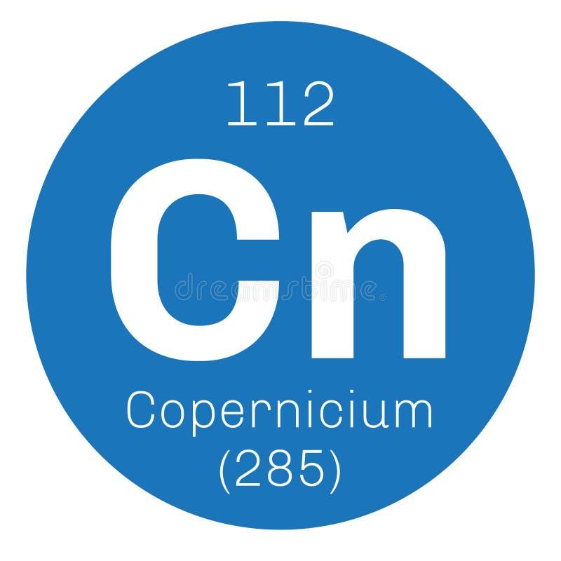 Copernicium chemisch element vector illustratie