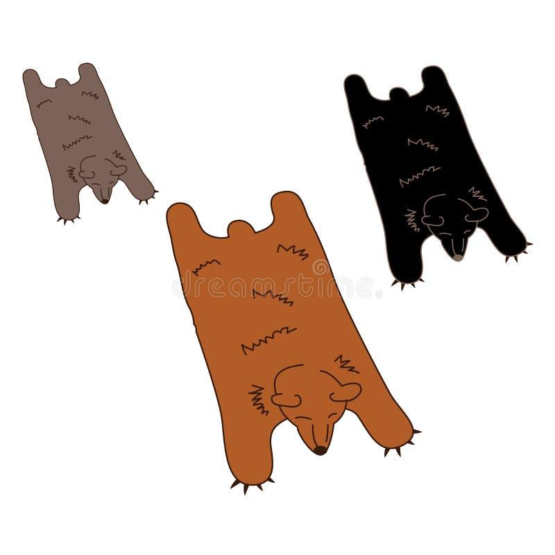 Coperta della pelle dell'orso del Faux illustrazione di stock