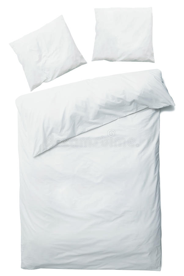 Coperta e cuscini bianchi fotografia stock