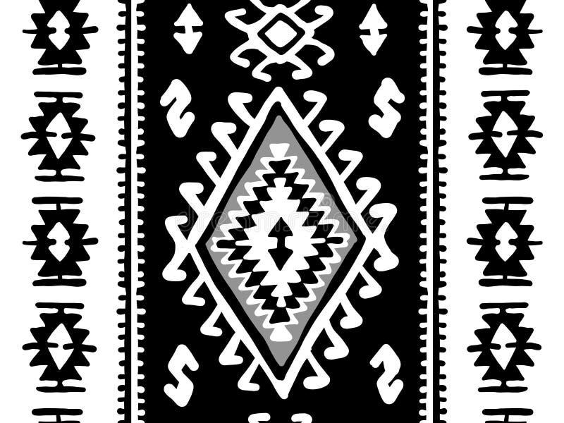 Coperta orientale del mosaico con i ornamen geometrici pieghi tradizionali Reticolo senza giunte illustrazione di stock