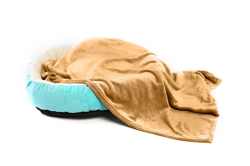 Coperta pelosa dell'animale domestico caldo di inverno immagine stock libera da diritti