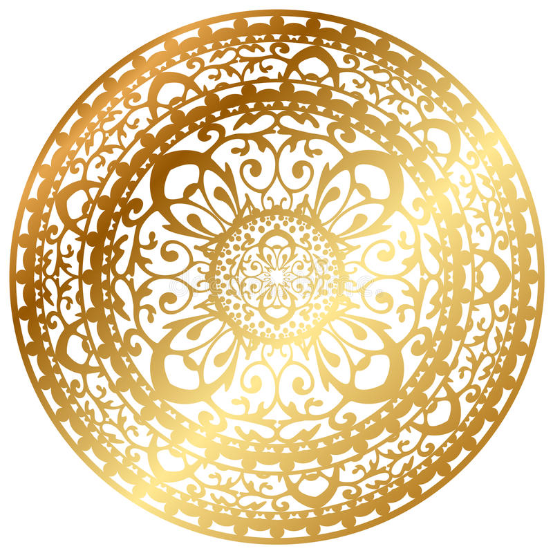 Coperta/tovagliolo dell'oro royalty illustrazione gratis