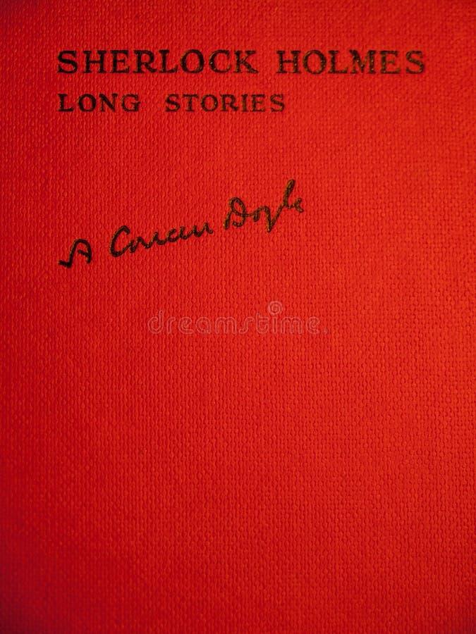 Copertina delle storie lunghe dei holmes dello sherlock immagine stock