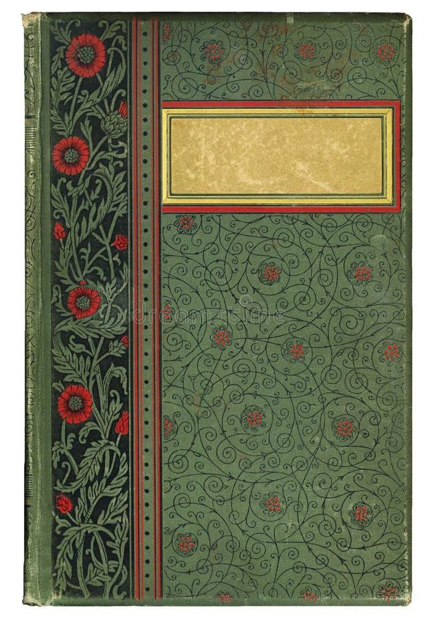 Copertina di libro antica fotografia stock