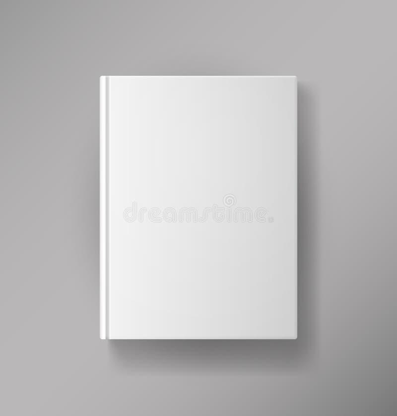 Copertina di libro in bianco illustrazione di stock