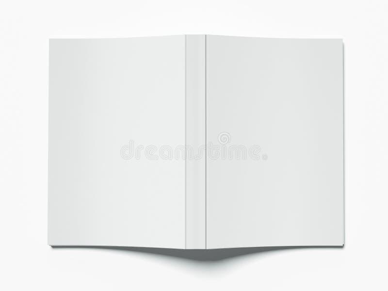 Copertina di libro in bianco illustrazione vettoriale