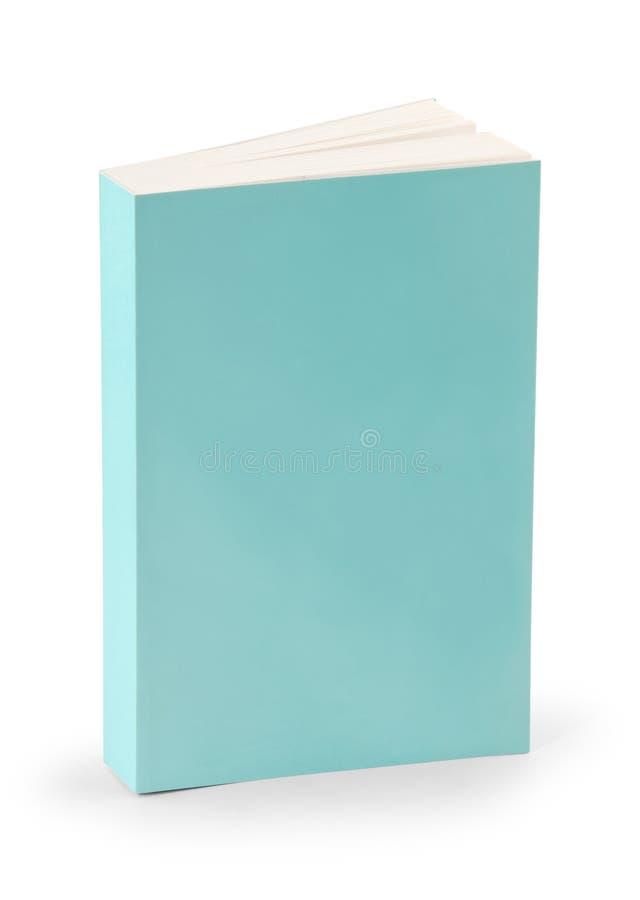 Copertina di libro in bianco con il percorso di residuo della potatura meccanica fotografia stock