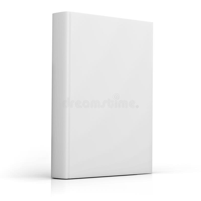 Copertina di libro in bianco sopra fondo bianco illustrazione di stock