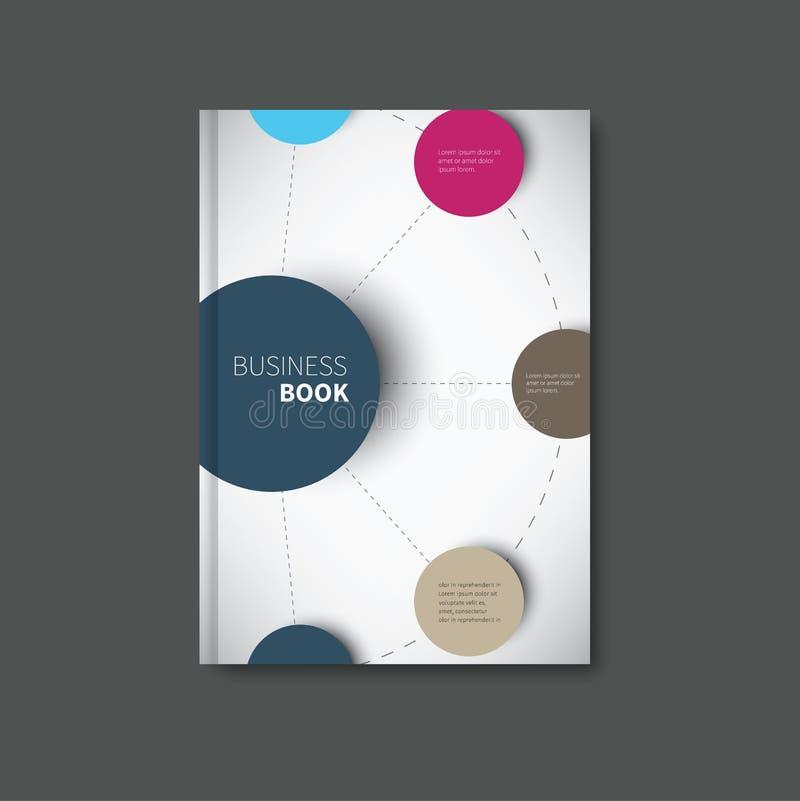 Copertina di libro di Infographic fotografie stock