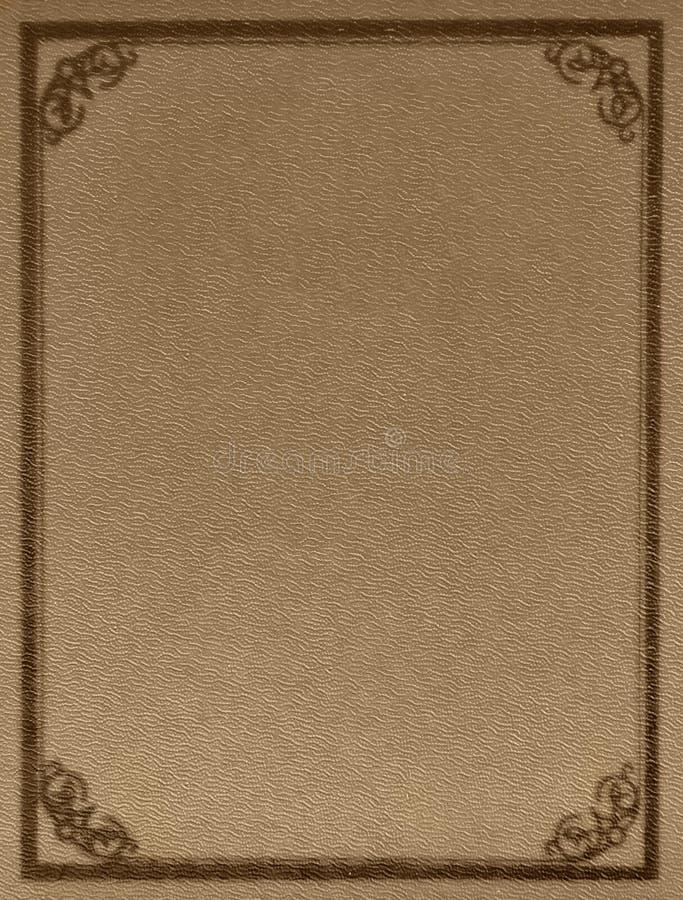 Copertina di libro vuota molto vecchia fotografie stock