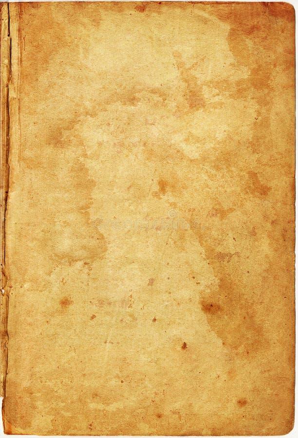 Copertina di vecchio libro fotografia stock