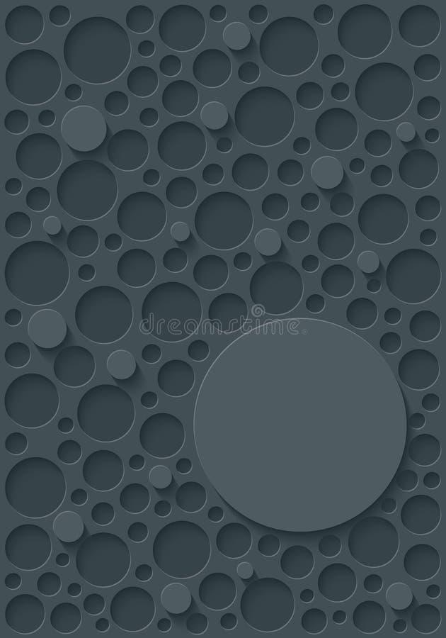 Copertina grigio scuro con copia-spazio illustrazione vettoriale