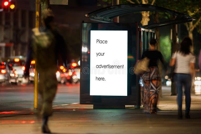 Copertina pubblicitaria esterna vuota immagini stock libere da diritti