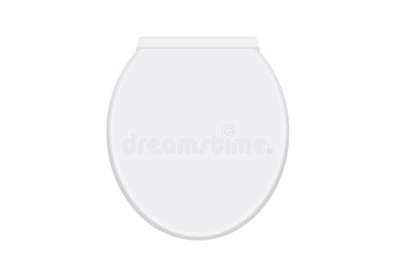 Copertura bianca della ciotola di toilette illustrazione vettoriale