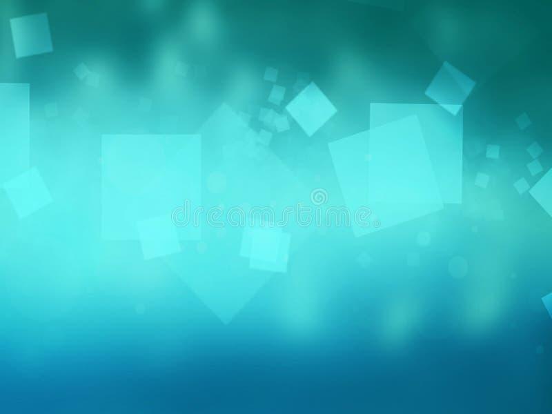 Copertura blu-chiaro dell'illustrazione con l'insieme del quadrato stile di progettazione illustrazione vettoriale