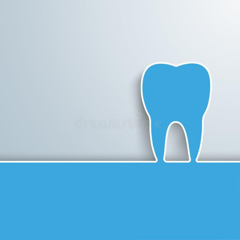 Copertura blu del dente illustrazione di stock