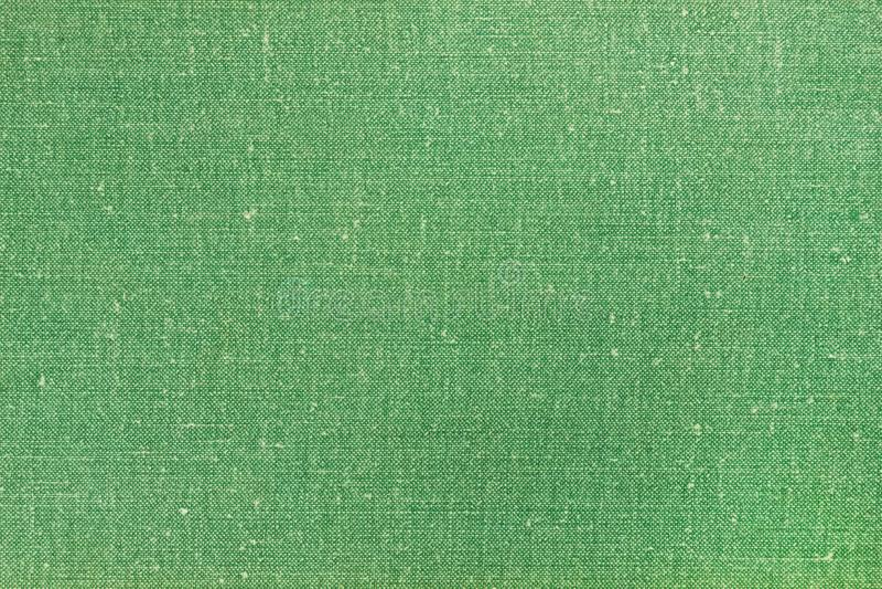 Copertura del libro tessile verde Tessuti di tessitura Tessuto di trama in background Coperchio di sfondo della trama di tela immagini stock libere da diritti