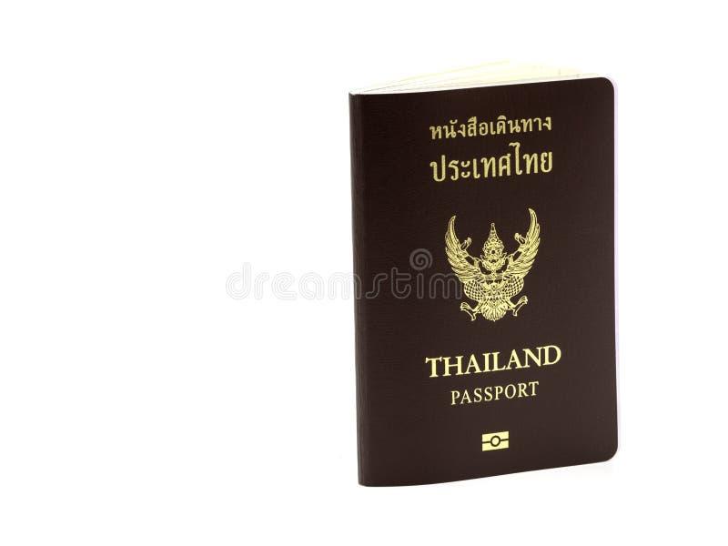 Copertura del passaporto della Tailandia, cittadino dell'identificazione isolato su fondo bianco immagini stock libere da diritti