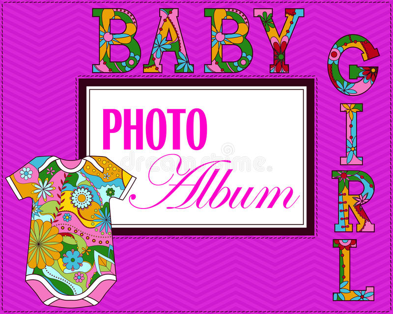 Copertura dell'album di foto del bambino royalty illustrazione gratis
