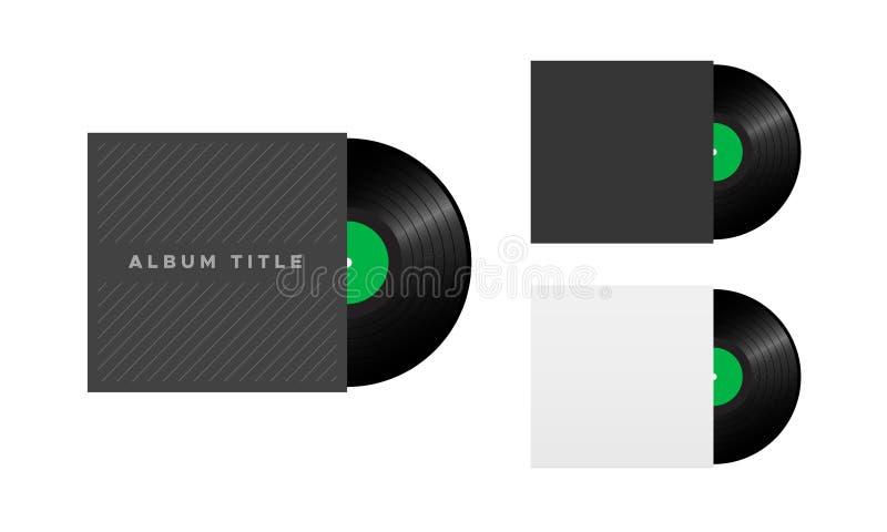 Copertura dell'album record del vinile, retro musica royalty illustrazione gratis