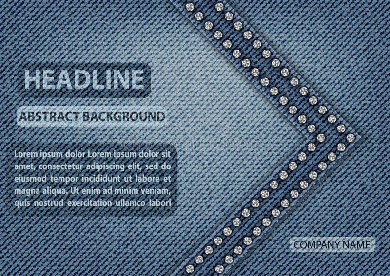 Copertura delle blue jeans illustrazione di stock