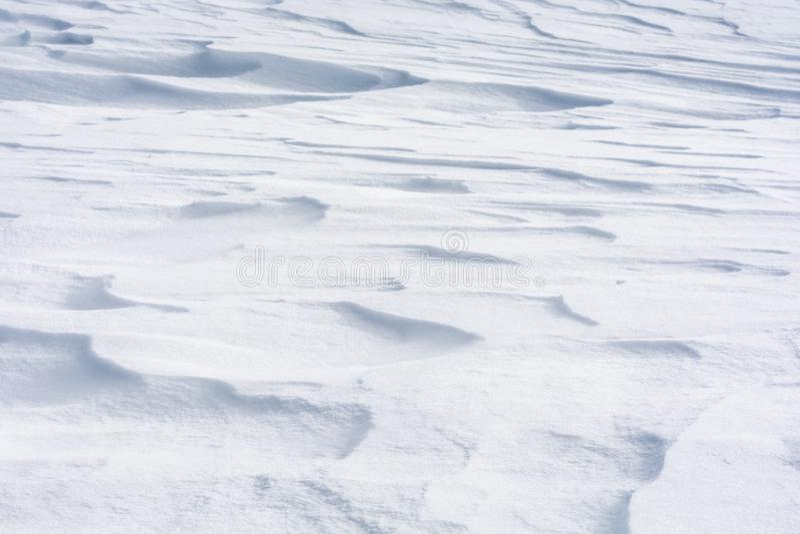 Copertura di neve di Snowy come fondo o struttura immagini stock