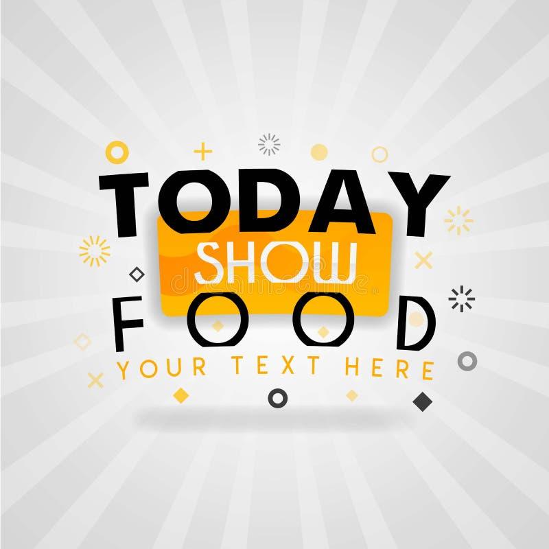 Copertura di rivista per la ricetta dell'alimento di Today Show per la ricevuta facile dell'alimento e del pasto illustrazione di stock