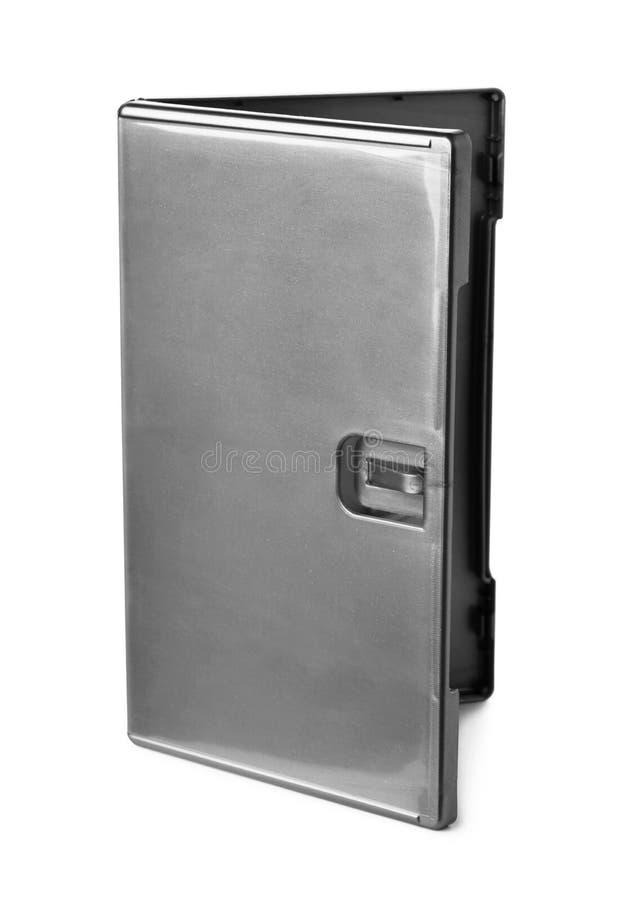 Copertura di scatola grigia di DVD fotografia stock